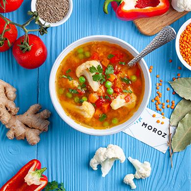 Пикантный суп с цветной капустой