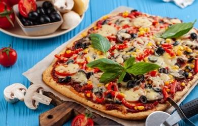 Быстрая пицца на бездрожжевом тесте
