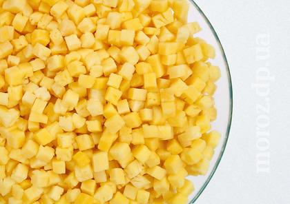 Ананас (кубик, уголок) замороженный, 0,5