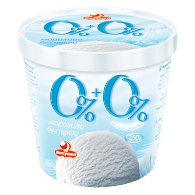 Мороженое 0%+0% без сахара, 250 г