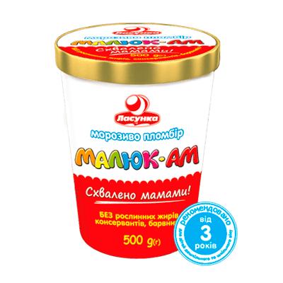 """Мороженое пломбир """"Малюк-Ам"""", 500 г"""