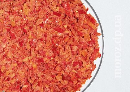 Перец красный (кубик) замороженный, 1 кг